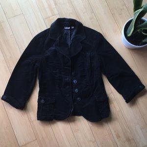 Halogen corduroy black blazer